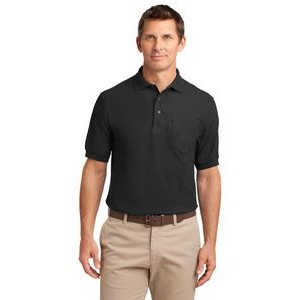 Port Authority® Silk Touch™ Polo Shirt w/ Pocket