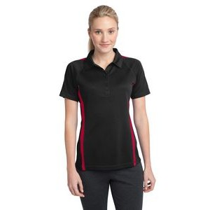 Sport-Tek® Ladies' PosiCharge® Micro-Mesh Colorblock Polo Shirt