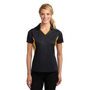 Sport-Tek® Ladies' Side Blocked Micropique Sport-Wick® Sport Polo Shirt