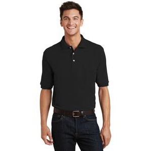 Port Authority® Heavyweight Cotton Pique Polo Shirt w/Pocket