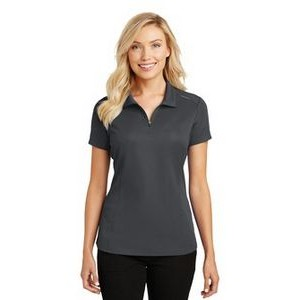 Port Authority® Ladies' Pinpoint Mesh Zip Polo Shirt