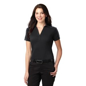 Port Authority® Ladies Silk Touch™ Performance Colorblock Stripe Polo Shirt