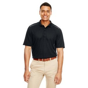 CORE 365 Men's Radiant Performance Piqué Polo with Reflective Piping