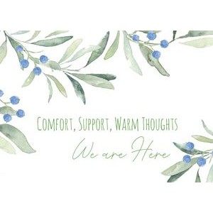 Comfort and Support Greeting Card