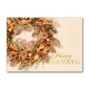 Colors of Autumn Wreathe Thanksgiving Card