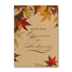 Autumn Maple Leaves Thanksgiving Card