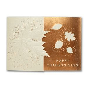Subtle Leaves Thanksgiving Card
