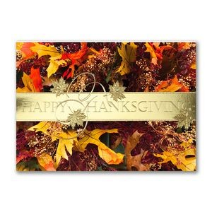 Stunning Wreath Thanksgiving Holiday Card