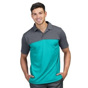 Men's Tri-Mountain Performance® Dimension Yoke Colorblock Polo