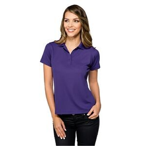 Women's Tri-Mountain Performance® Lady Vital Mini-Pique Performance Polo
