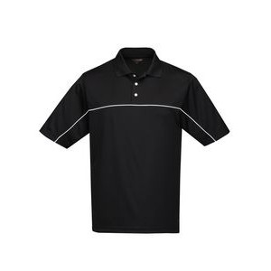 Tri-Mountain® Racewear Men's Heel-Toe Mesh Polo Shirt