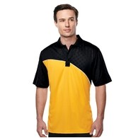 Men's Tri-Mountain Performance® Elite Tonal-Printed Colorblock Polo