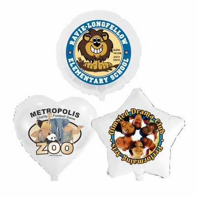 "17"" Low Quantity Full-Color Classic White Foil Balloons"