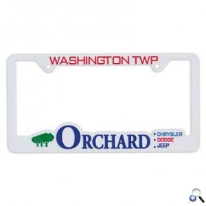 Hi-Impact 3D Traditional License Plate Frame - ABS