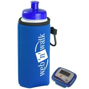 Walking Kit - Pedometer with Bottle and Holder