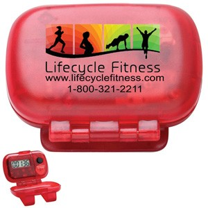 Single Function Step Counter Pedometer with Hinged Cover