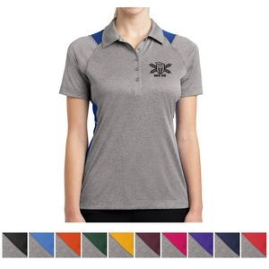 Sport-Tek® Ladies' Heather Colorblock Contender™ Polo