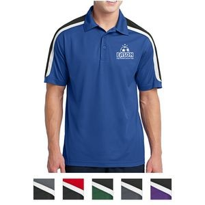 Sport-Tek® Tricolor Shoulder Micropique Sport-Wick® Polo