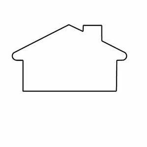 Medium House Outline Magnet - Full Color
