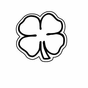 4 Leaf Clover Magnet - Full Color