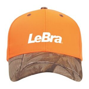 Blaze Orange Cap w/Camo Visor